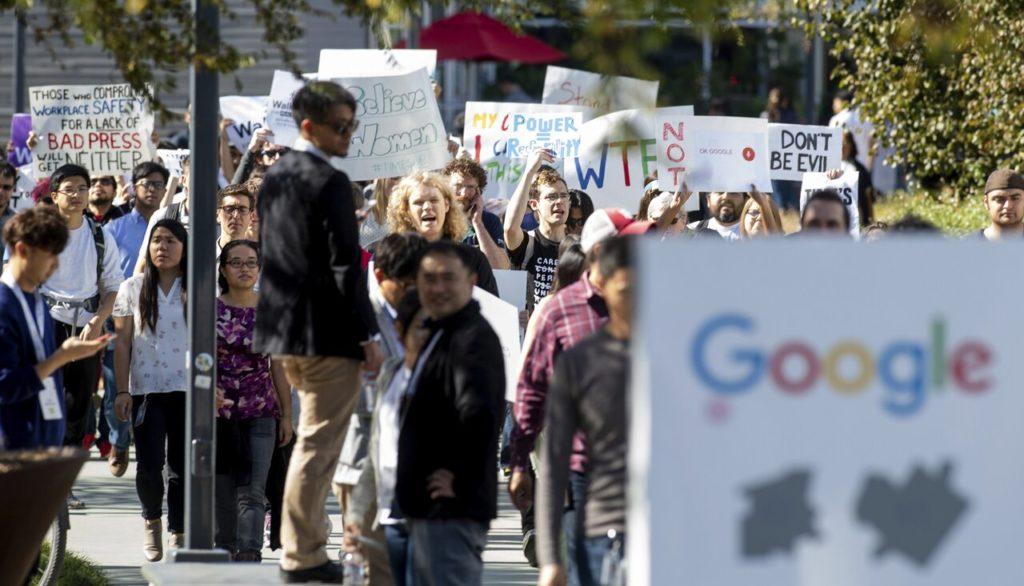 Забастовка работников Google в Калифорнии, 1 ноября 2018 года Noah Berger / AP / Scanpix / LETA