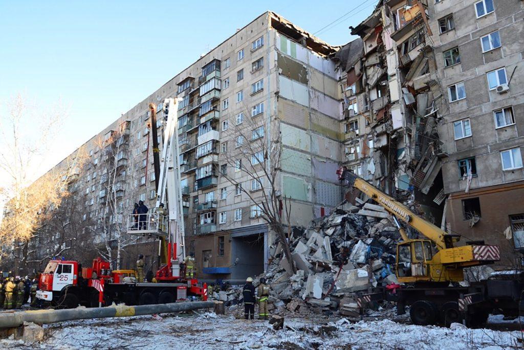 Дом в Магнитогорске после взрыва, 31 декабря 2018 года МЧС России / ТАСС / Scanpix / LETA